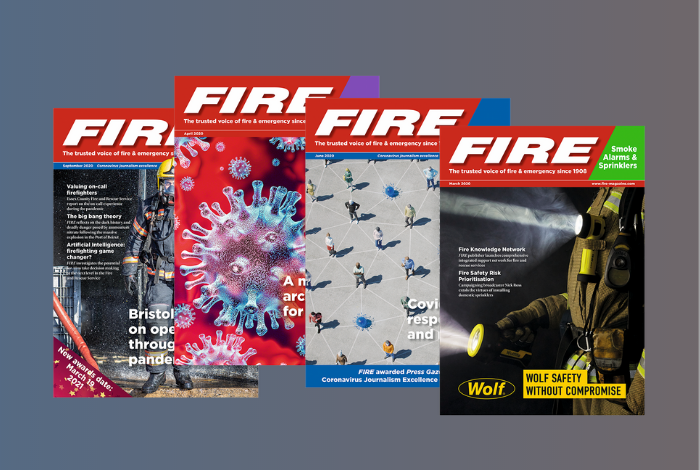 Display of four FIRE Magazines